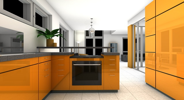 modern house kitchen